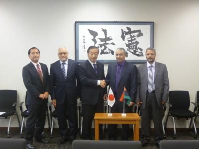 リビア代表の来日