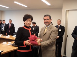 H.E. Ms. Yuriko KOIKE, Chairperson of Japan Libya Friendship Association and Member of House of Representatives and Mr. Zawia